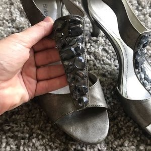 Style & Co Jeweled Silver Heels